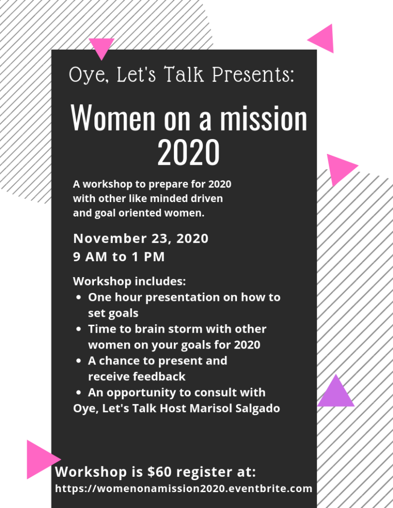 First event to empower women. Women will meet other like minded and goal oriented women to plan for 2020.